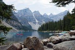 Parco nazionale del lago moraine, Banff, Alberta, Canada Fotografia Stock