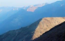 Parco nazionale del paesaggio della montagna, Death Valley, U.S.A. Immagini Stock