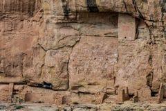 Parco nazionale del verde di MESA - abitazione di scogliera nella lan della montagna del deserto Immagini Stock Libere da Diritti
