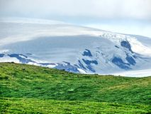 Parco nazionale dell'Islanda Skaftafell le montagne 2017 Immagine Stock
