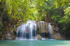 Parco nazionale della cascata di Erawan Fotografia Stock Libera da Diritti