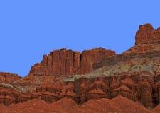 Parco nazionale della scogliera del Campidoglio del paesaggio dell'Utah Fotografia Stock Libera da Diritti
