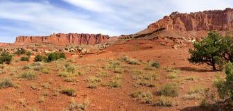 Parco nazionale della scogliera del Campidoglio del paesaggio dell'Utah Fotografia Stock