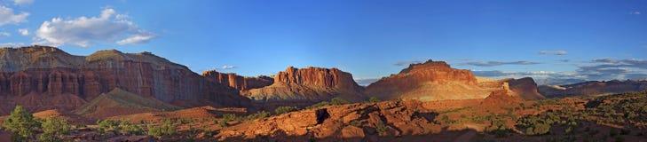 Parco nazionale della scogliera del Campidoglio di tramonto al punto di panorama Fotografia Stock