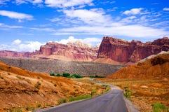 Parco nazionale della scogliera del Campidoglio, Utah, U.S.A. Fotografia Stock
