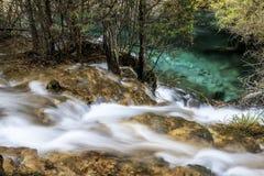 Parco nazionale della valle del Jiuzhaigou Fotografia Stock