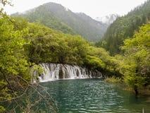 Parco nazionale della valle del Jiuzhaigou in Cina Immagine Stock Libera da Diritti