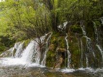 Parco nazionale della valle del Jiuzhaigou in Cina Fotografia Stock