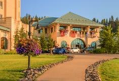 Parco nazionale di Banff dell'azionamento dell'hotel di Fairfield Fotografie Stock
