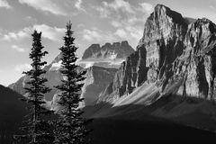 Parco nazionale di Banff di alba Fotografie Stock