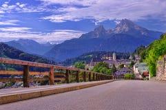 Parco nazionale di Berchtesgaden in alpi Immagine Stock