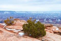 Parco nazionale di Canyonlands nell'inverno Fotografia Stock Libera da Diritti