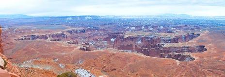 Parco nazionale di Canyonlands nell'inverno Immagini Stock