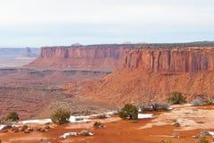 Parco nazionale di Canyonlands nell'inverno Fotografia Stock
