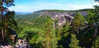 Parco nazionale di Ceco Svizzera, repubblica Ceca Fotografie Stock Libere da Diritti