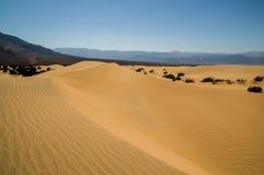 Parco nazionale di Death Valley del paesaggio della duna di sabbia fotografia stock libera da diritti