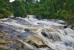 Parco nazionale di Doi Inthanon della cascata di Wachirathan, Chiang Mai Fotografie Stock