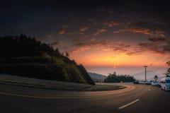 Parco nazionale di Doi Inthanon nell'alba a Chiang Mai Province Fotografia Stock Libera da Diritti