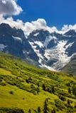 Parco nazionale di Ecrins con il ghiacciaio di Meije della La di estate Alpi, Francia Immagini Stock