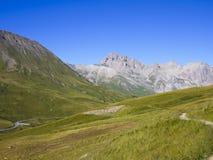 Parco nazionale di Ecrins da Col du Lautaret, montagne delle alpi, Francia Fotografie Stock Libere da Diritti