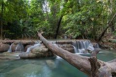 Parco nazionale di Erawan, cascata in Tailandia Immagini Stock Libere da Diritti