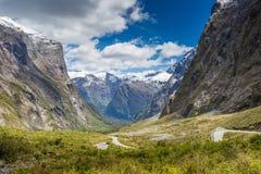 Parco nazionale di Fjordland, alpi del sud, Nuova Zelanda Fotografie Stock Libere da Diritti