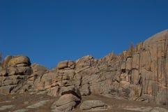 Parco nazionale di Gorkhi-Terelj di formazione rocciosa Immagini Stock Libere da Diritti