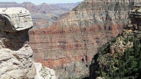 Parco nazionale di Grand Canyon nella roccia rossa della guida turistica dell'Arizona immagine stock