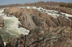 Parco nazionale di Great Falls, la contea di Fairfax, la Virginia Fotografie Stock Libere da Diritti