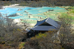 Parco nazionale di Huanglong, Sichuan, Cina Fotografie Stock Libere da Diritti