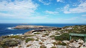 Parco nazionale di inseguimento del Flinders di vista di oceano @ fotografia stock libera da diritti