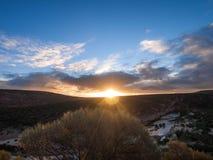 Parco nazionale di Kalbarri - tramonto Australia fotografia stock libera da diritti