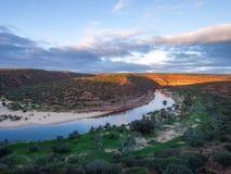 Parco nazionale di Kalbarri - tramonto Australia immagini stock libere da diritti