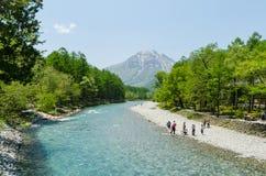 Parco nazionale di Kamikochi a Nagano Giappone Fotografia Stock Libera da Diritti