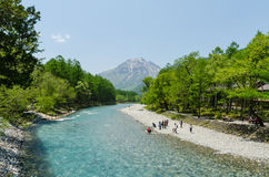 Parco nazionale di Kamikochi a Nagano Giappone Immagine Stock