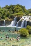 Parco nazionale di Krka, Croazia, il 14 agosto 2017 Immagine Stock Libera da Diritti