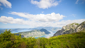 Parco nazionale di Lovcen Mountain View sulla baia di Cattaro Fotografie Stock Libere da Diritti