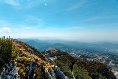 Parco nazionale di Lovcen Vista dalla montagna fotografia stock