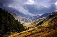 Parco nazionale di Mercantour, fra la Francia e l'Italia Fotografia Stock