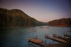 Parco nazionale di Pang Ung della provincia Tailandia di Mae Hong Son Fotografie Stock Libere da Diritti