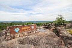 Parco nazionale di Pha Taem, Ubon Ratchathani Tailandia Immagini Stock Libere da Diritti