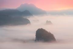 Parco nazionale di Phu Langka nella provincia di Payao Immagini Stock Libere da Diritti