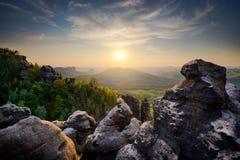 Parco nazionale di Saxon Svizzera, Germania Immagini Stock