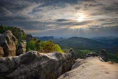 Parco nazionale di Saxon Svizzera, Germania Fotografie Stock