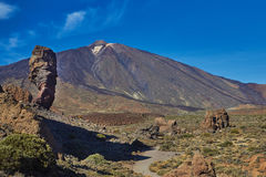 Parco nazionale di Teide, Tenerife, isole Canarie, Spagna Na di Teide Immagini Stock Libere da Diritti