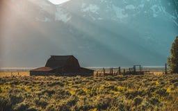 Parco nazionale di Teton del granaio di Moulton grande immagine stock