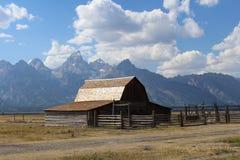 Parco nazionale di Teton del granaio di Moulton grande fotografia stock libera da diritti
