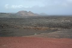 Parco nazionale di Timanfaya, Lanzarote, isole di canaria Fotografia Stock Libera da Diritti