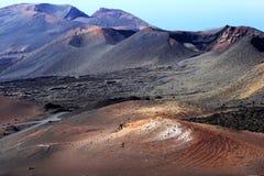 Parco nazionale di Timanfaya nell'isola di Lanzarote, Spagna Immagini Stock