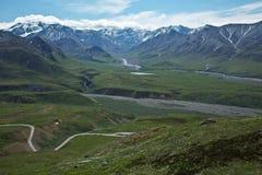 Parco nazionale di visita di Denali Fotografie Stock Libere da Diritti
